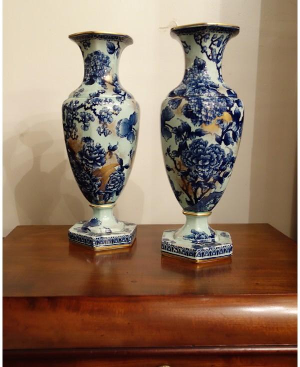 paire de vases en faience